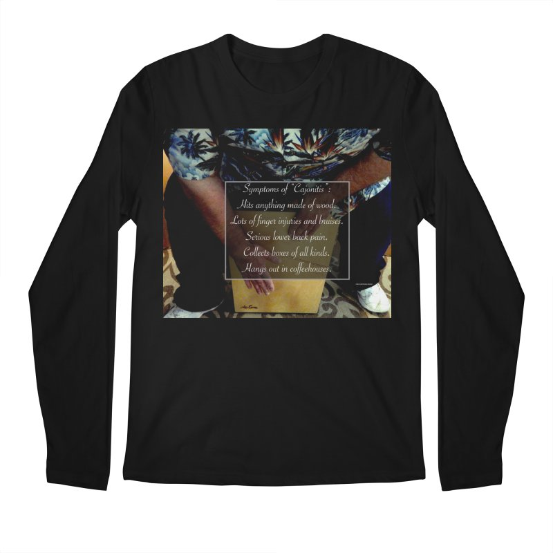 "Symptoms of ""Cajonitis"" Men's Regular Longsleeve T-Shirt by EdHartmanMusic Swag Shop!"