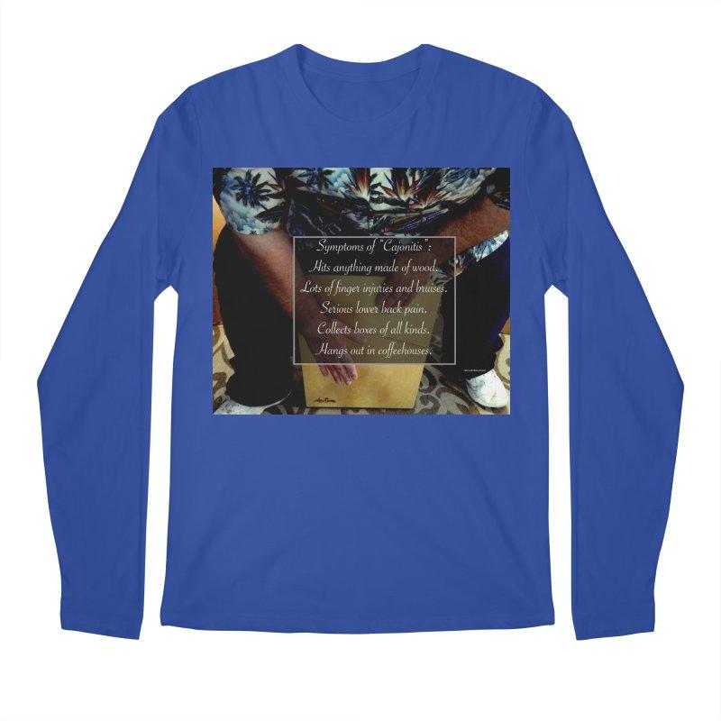 "Symptoms of ""Cajonitis"" Men's Regular Longsleeve T-Shirt by EdHartmanMusic Swag Shop!"