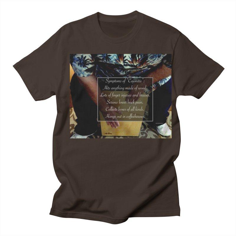 """Symptoms of """"Cajonitis"""" Men's Regular T-Shirt by EdHartmanMusic Swag Shop!"""
