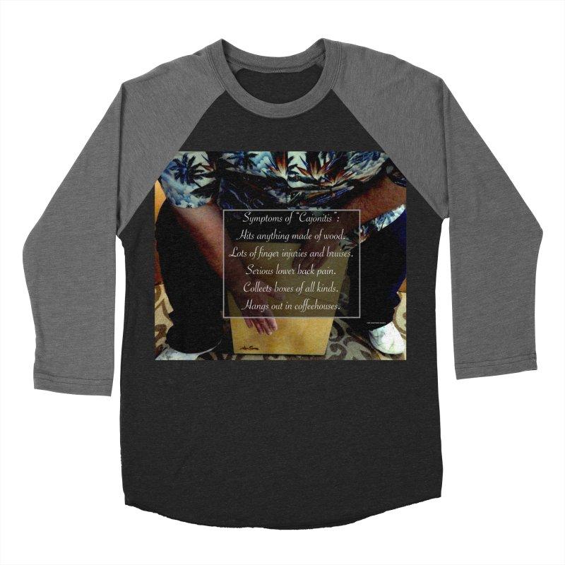 """Symptoms of """"Cajonitis"""" Women's Baseball Triblend T-Shirt by EdHartmanMusic Swag Shop!"""