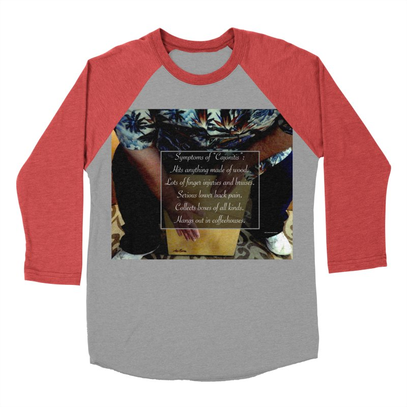 "Symptoms of ""Cajonitis"" Men's Baseball Triblend Longsleeve T-Shirt by EdHartmanMusic Swag Shop!"