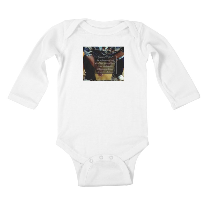 "Symptoms of ""Cajonitis"" Kids Baby Longsleeve Bodysuit by EdHartmanMusic Swag Shop!"