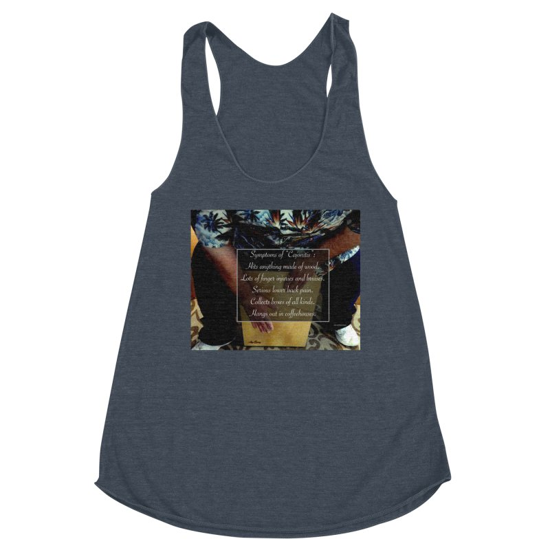 "Symptoms of ""Cajonitis"" Women's Racerback Triblend Tank by EdHartmanMusic Swag Shop!"