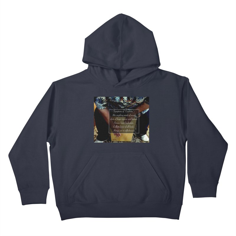 "Symptoms of ""Cajonitis"" Kids Pullover Hoody by EdHartmanMusic Swag Shop!"