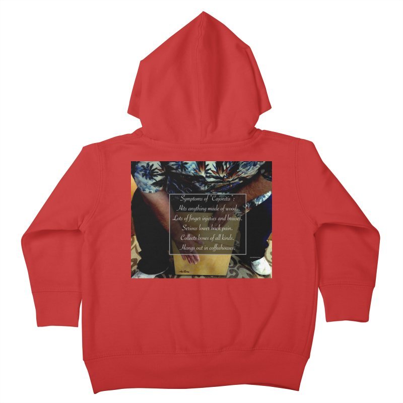 "Symptoms of ""Cajonitis"" Kids Toddler Zip-Up Hoody by EdHartmanMusic Swag Shop!"