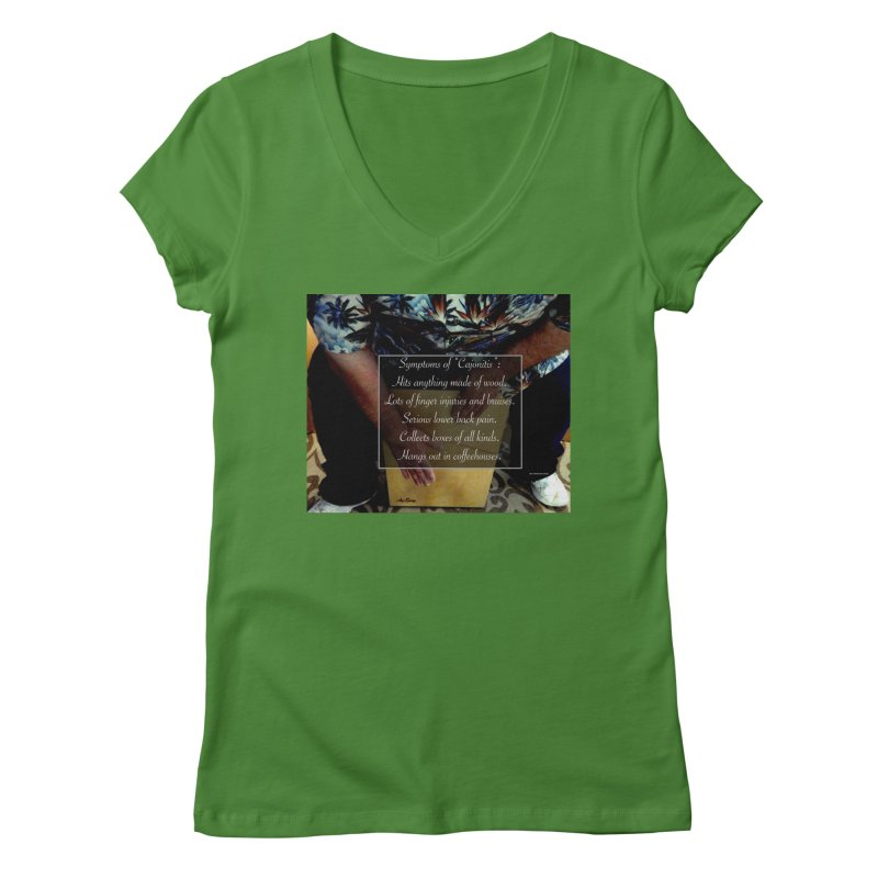 "Symptoms of ""Cajonitis"" Women's V-Neck by EdHartmanMusic Swag Shop!"