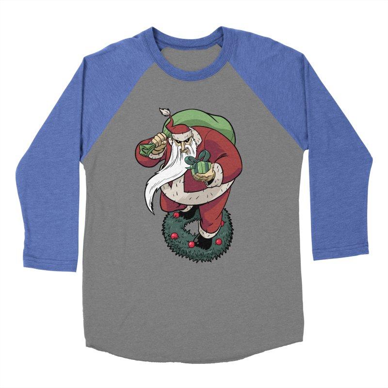 Shirt of the month November: Maul Santa Men's Baseball Triblend T-Shirt by edisonrex's Artist Shop
