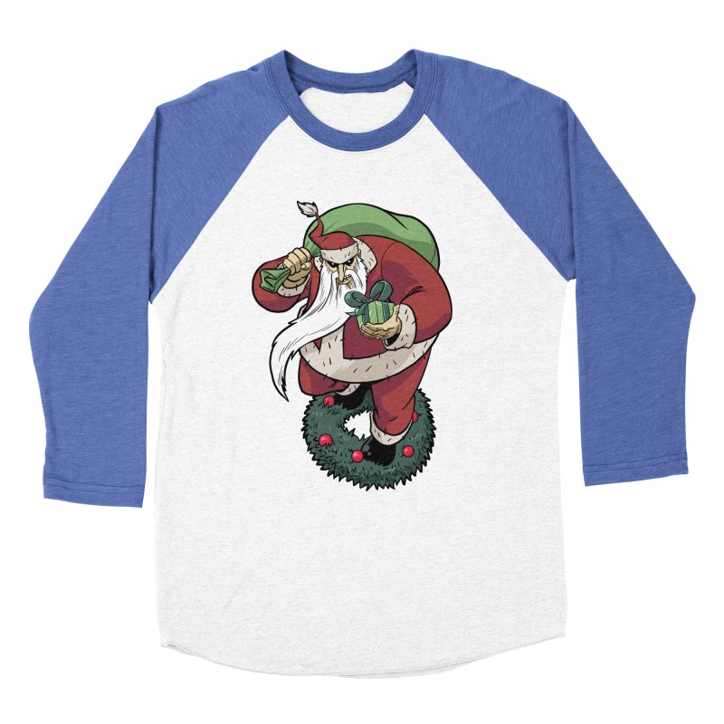 Shirt of the month November: Maul Santa Men's Baseball Triblend Longsleeve T-Shirt by Edison Rex