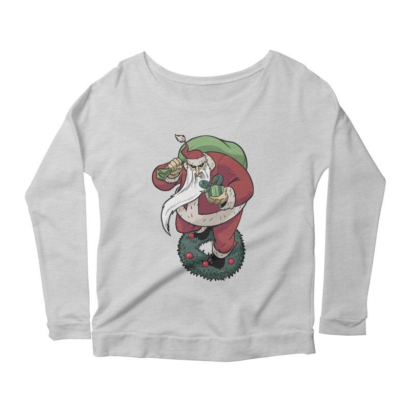 Shirt of the month November: Maul Santa Women's Scoop Neck Longsleeve T-Shirt by edisonrex's Artist Shop