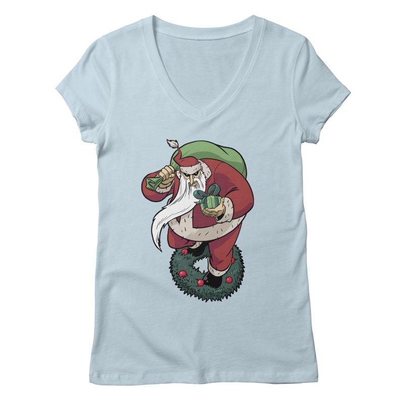 Shirt of the month November: Maul Santa Women's V-Neck by edisonrex's Artist Shop