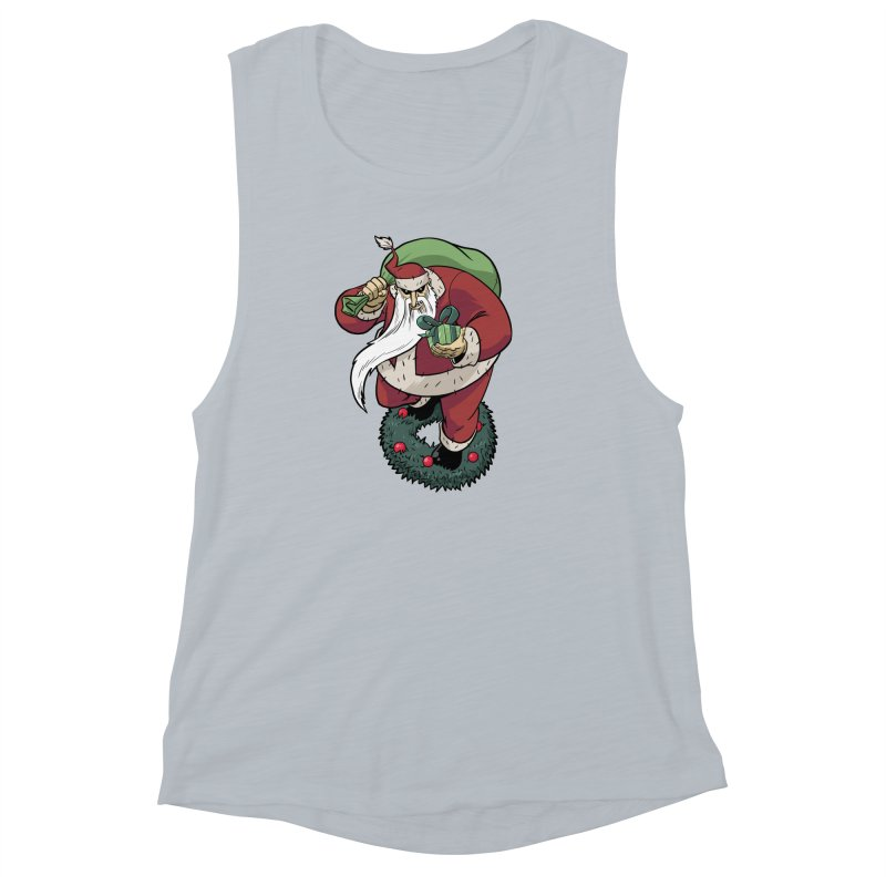 Shirt of the month November: Maul Santa Women's Muscle Tank by edisonrex's Artist Shop
