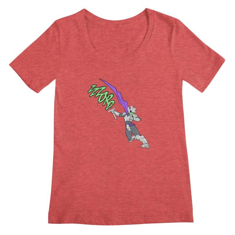 Shirt of the Month April Women's Scoopneck by edisonrex's Artist Shop