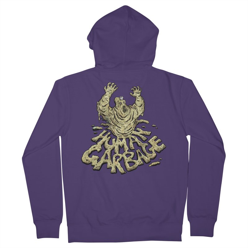 Shirt of the month May 2017: Human Garbage Women's French Terry Zip-Up Hoody by edisonrex's Artist Shop