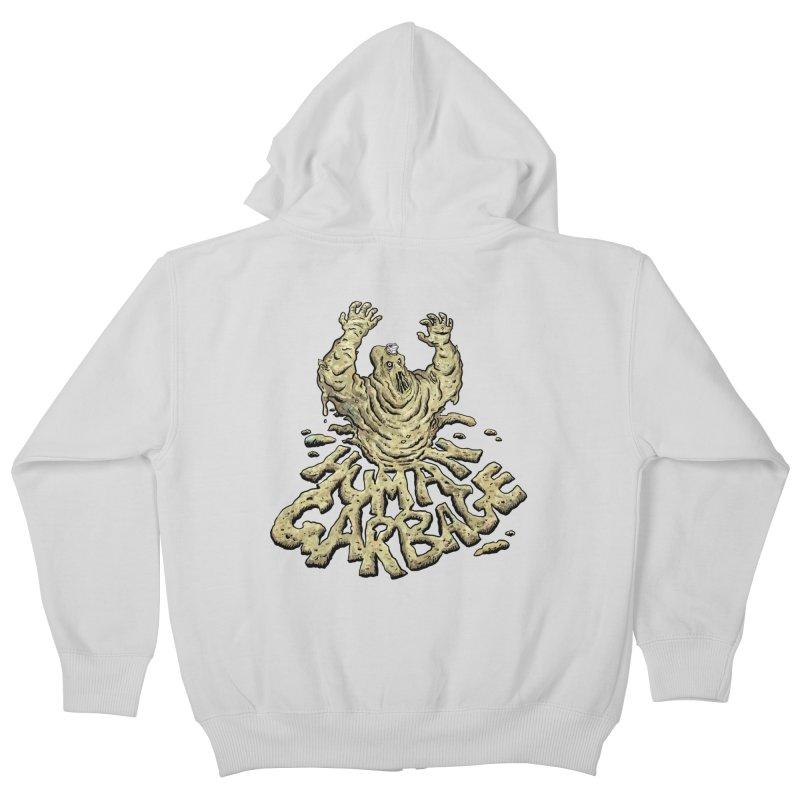 Shirt of the month May 2017: Human Garbage Kids Zip-Up Hoody by edisonrex's Artist Shop