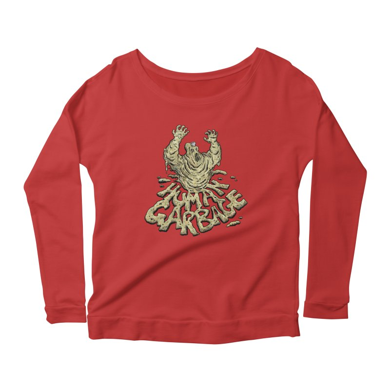 Shirt of the month May 2017: Human Garbage Women's Scoop Neck Longsleeve T-Shirt by edisonrex's Artist Shop