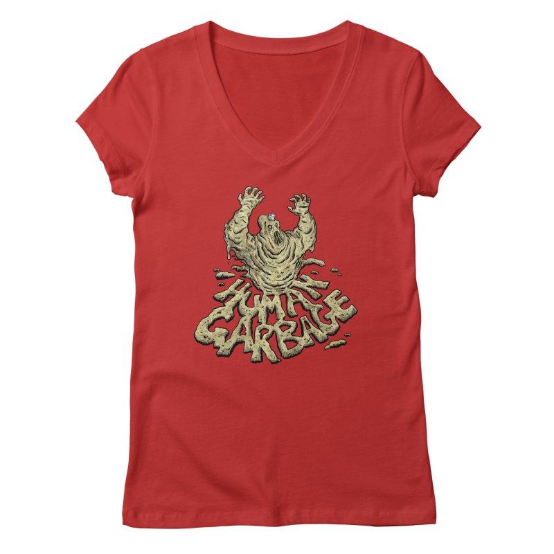 Shirt of the month May 2017: Human Garbage Women's Regular V-Neck by edisonrex's Artist Shop