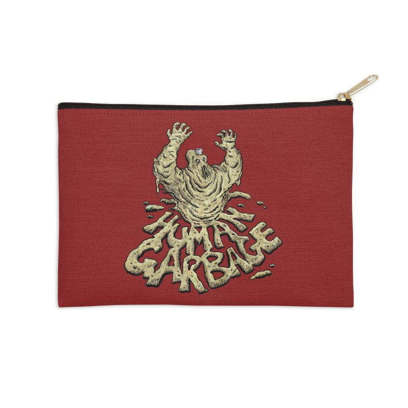 Shirt of the month May 2017: Human Garbage Accessories Zip Pouch by Edison Rex