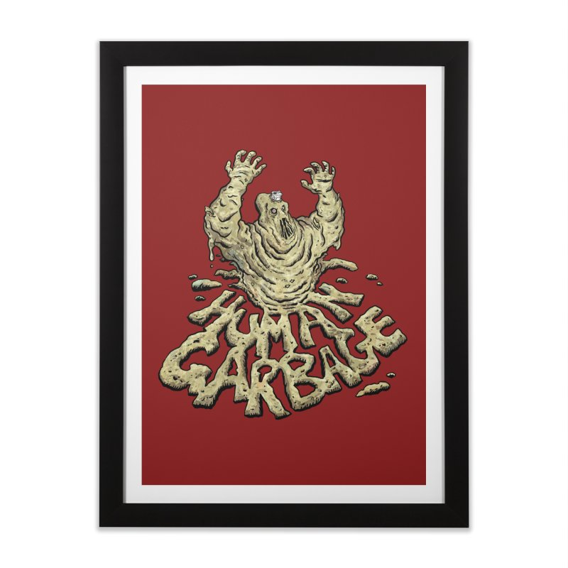 Shirt of the month May 2017: Human Garbage Home Framed Fine Art Print by Edison Rex