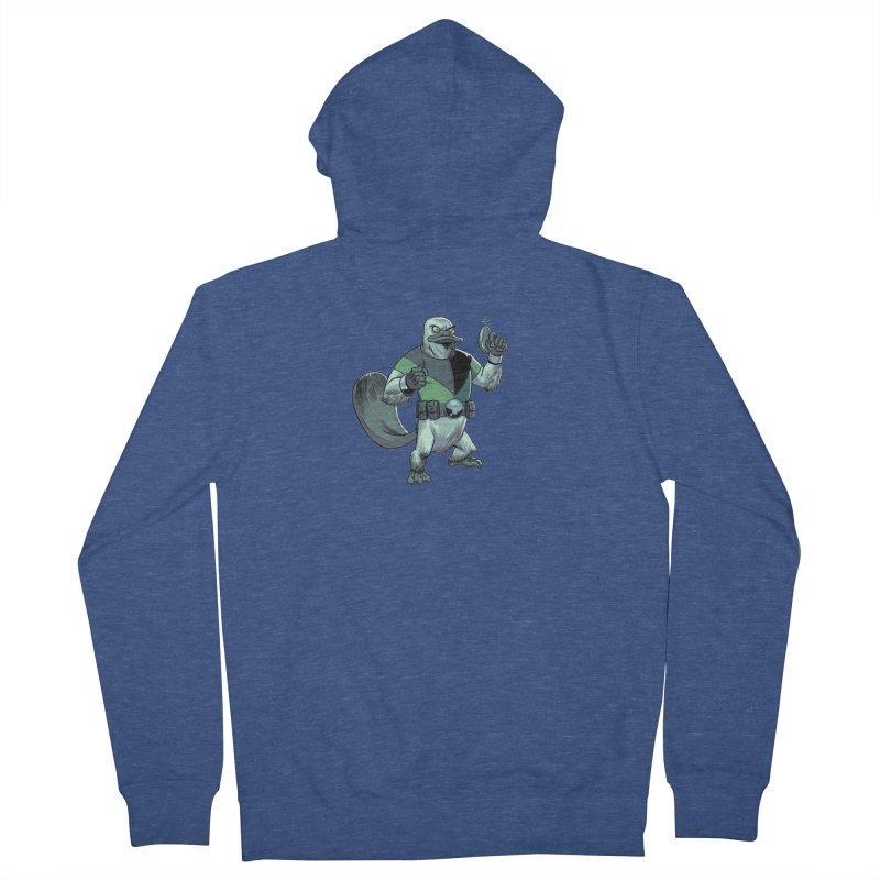 Shirt of the Month June 2017: Platypus Rex Women's French Terry Zip-Up Hoody by edisonrex's Artist Shop