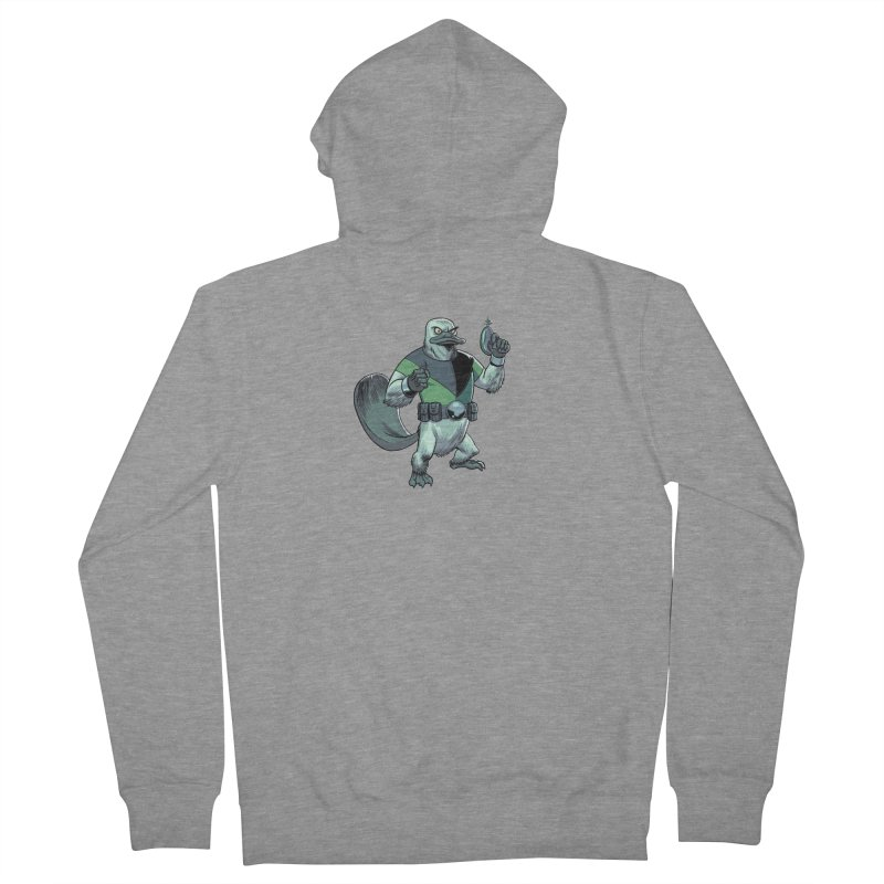 Shirt of the Month June 2017: Platypus Rex Men's French Terry Zip-Up Hoody by edisonrex's Artist Shop