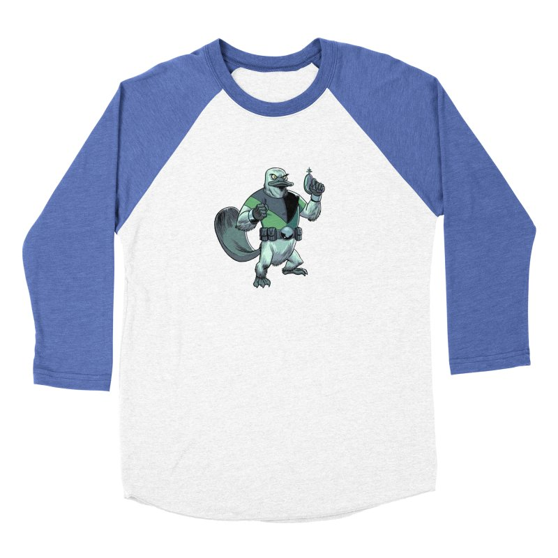Shirt of the Month June 2017: Platypus Rex Women's Baseball Triblend T-Shirt by edisonrex's Artist Shop