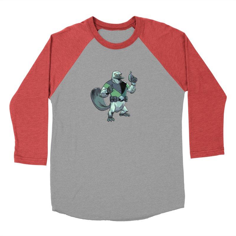 Shirt of the Month June 2017: Platypus Rex Women's Baseball Triblend Longsleeve T-Shirt by Edison Rex