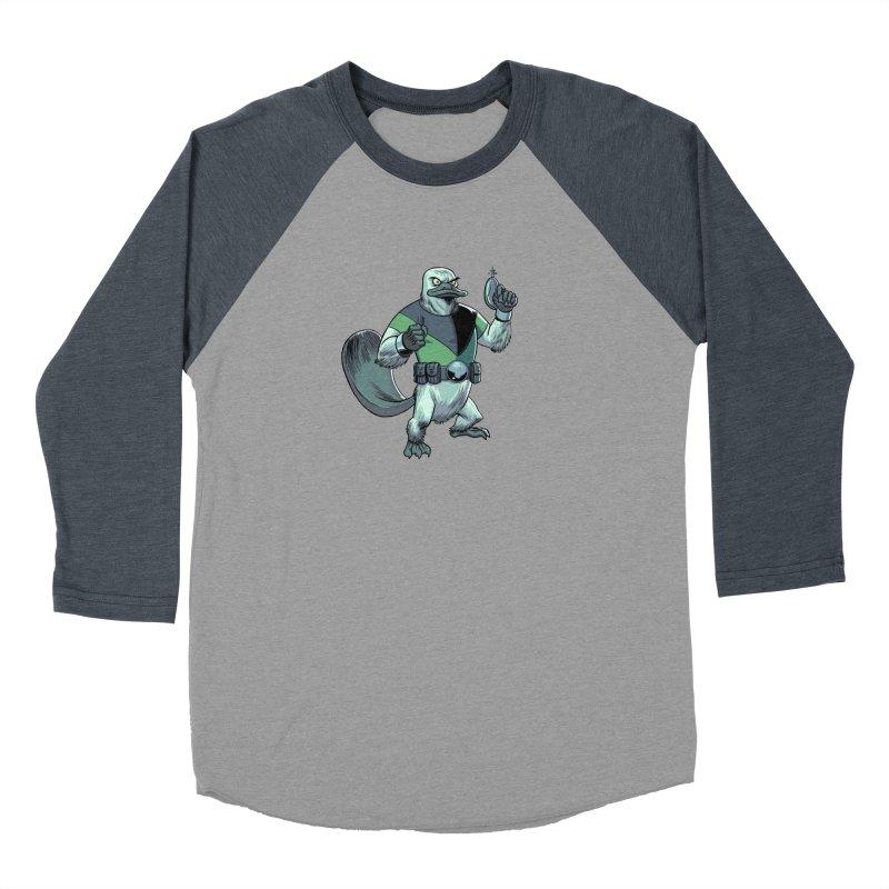 Shirt of the Month June 2017: Platypus Rex Women's Baseball Triblend Longsleeve T-Shirt by edisonrex's Artist Shop