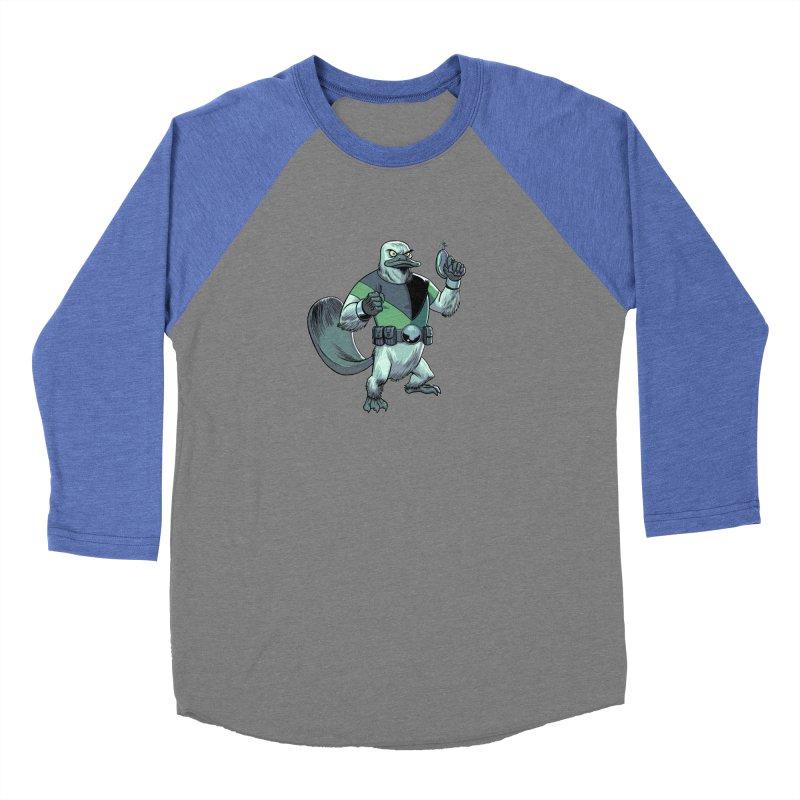Shirt of the Month June 2017: Platypus Rex Men's Baseball Triblend T-Shirt by edisonrex's Artist Shop