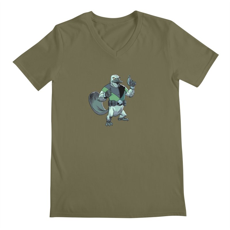 Shirt of the Month June 2017: Platypus Rex Men's Regular V-Neck by edisonrex's Artist Shop