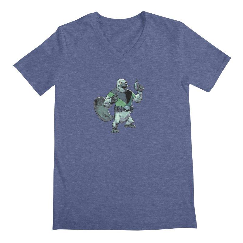 Shirt of the Month June 2017: Platypus Rex Men's V-Neck by edisonrex's Artist Shop