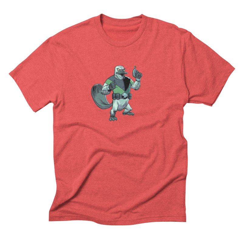Shirt of the Month June 2017: Platypus Rex Men's Triblend T-shirt by edisonrex's Artist Shop