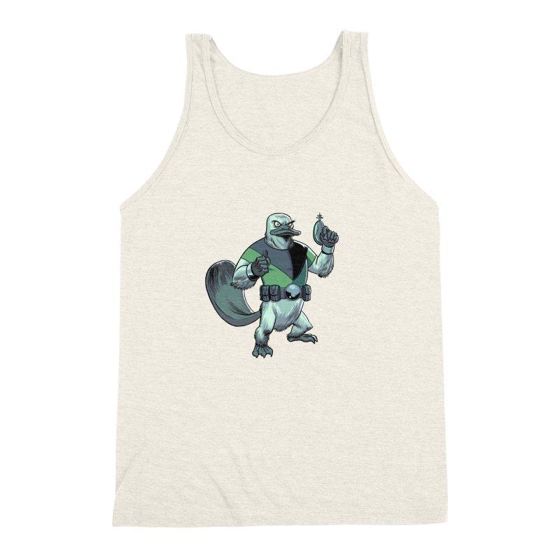 Shirt of the Month June 2017: Platypus Rex Men's Triblend Tank by Edison Rex