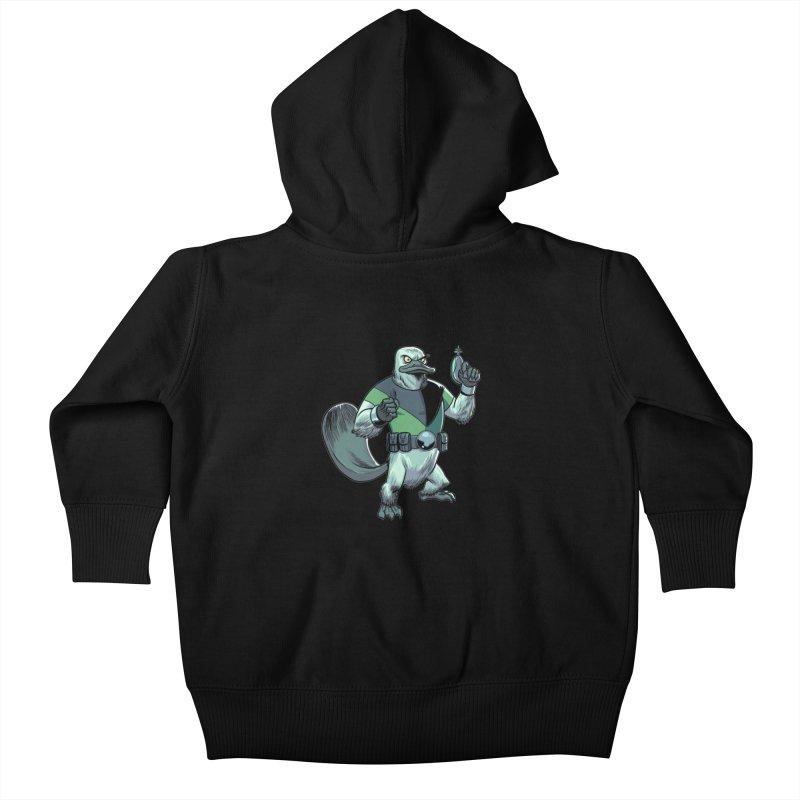 Shirt of the Month June 2017: Platypus Rex Kids Baby Zip-Up Hoody by edisonrex's Artist Shop