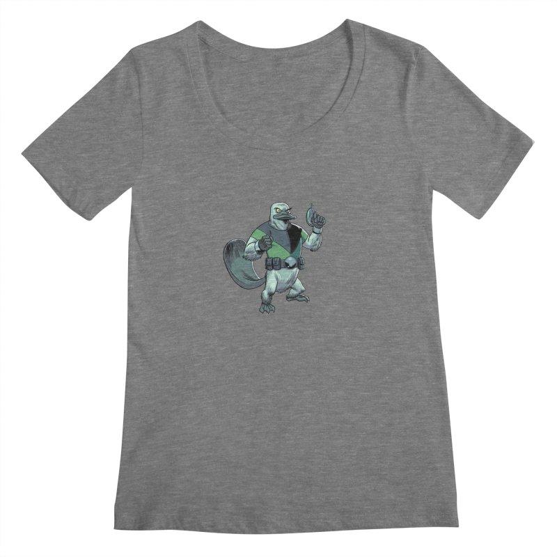 Shirt of the Month June 2017: Platypus Rex Women's Scoopneck by edisonrex's Artist Shop
