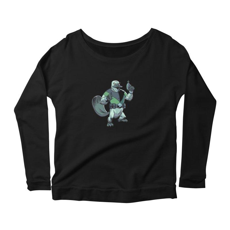 Shirt of the Month June 2017: Platypus Rex Women's Longsleeve Scoopneck  by edisonrex's Artist Shop