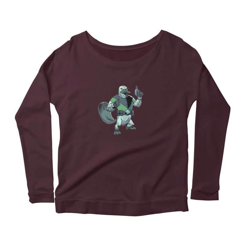 Shirt of the Month June 2017: Platypus Rex Women's Scoop Neck Longsleeve T-Shirt by Edison Rex