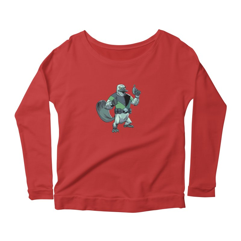 Shirt of the Month June 2017: Platypus Rex Women's Scoop Neck Longsleeve T-Shirt by edisonrex's Artist Shop