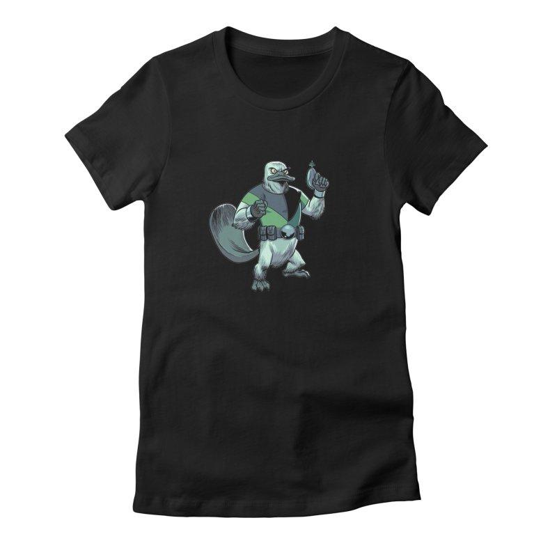 Shirt of the Month June 2017: Platypus Rex Women's Fitted T-Shirt by edisonrex's Artist Shop