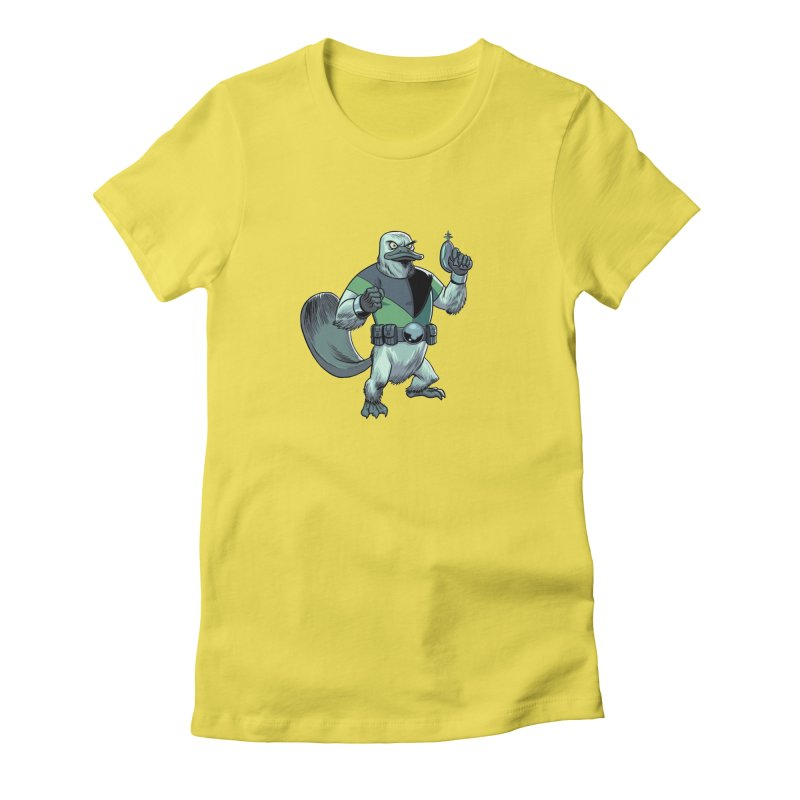 Shirt of the Month June 2017: Platypus Rex Women's Fitted T-Shirt by Edison Rex