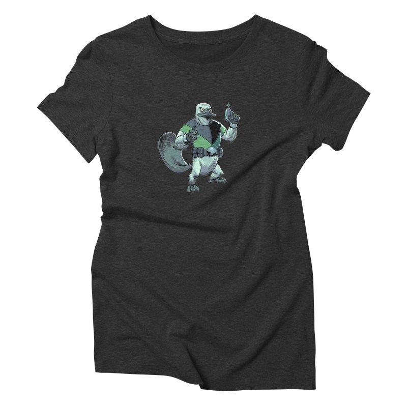 Shirt of the Month June 2017: Platypus Rex Women's Triblend T-Shirt by Edison Rex