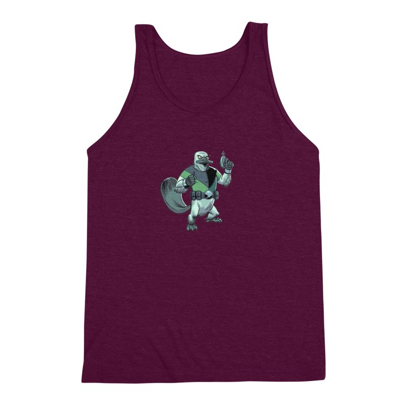 Shirt of the Month June 2017: Platypus Rex Men's Triblend Tank by edisonrex's Artist Shop