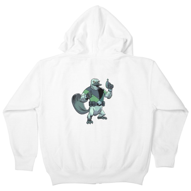 Shirt of the Month June 2017: Platypus Rex Kids Zip-Up Hoody by edisonrex's Artist Shop