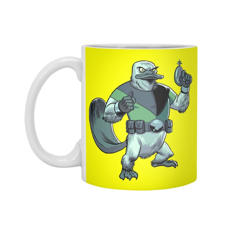Shirt of the Month June 2017: Platypus Rex Accessories Standard Mug by Edison Rex