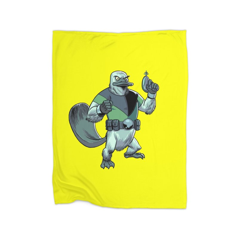 Shirt of the Month June 2017: Platypus Rex Home Blanket by edisonrex's Artist Shop