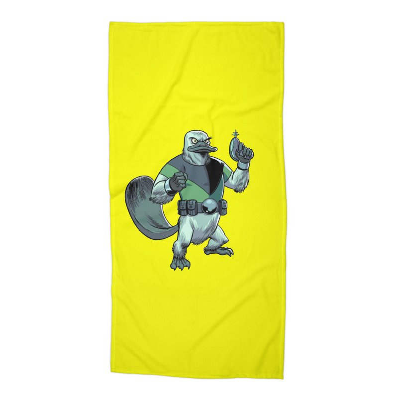 Shirt of the Month June 2017: Platypus Rex Accessories Beach Towel by edisonrex's Artist Shop