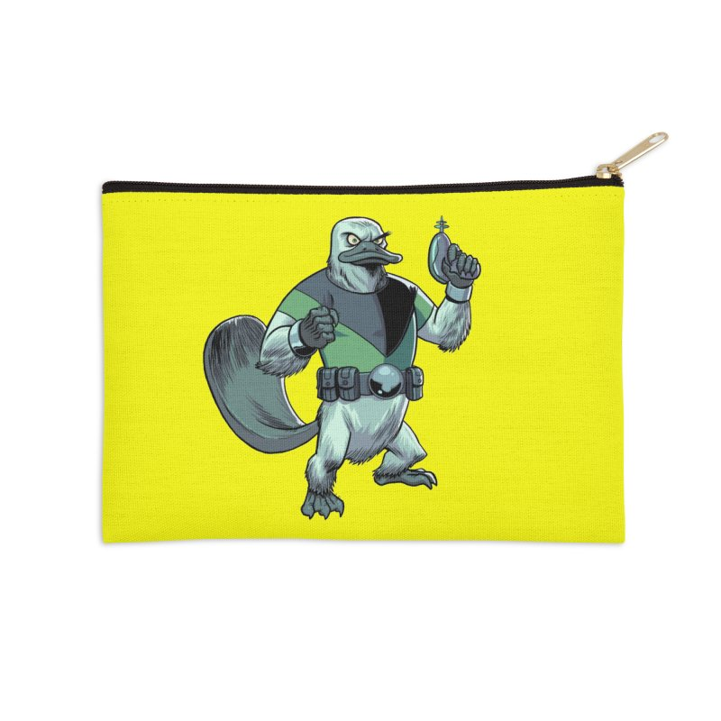 Shirt of the Month June 2017: Platypus Rex Accessories Zip Pouch by Edison Rex
