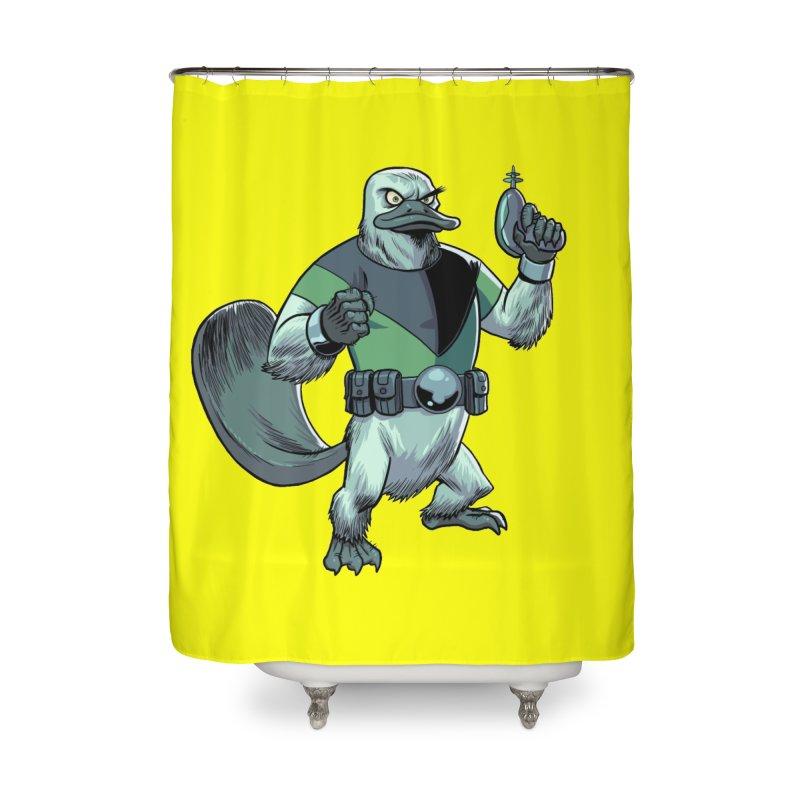 Shirt of the Month June 2017: Platypus Rex Home Shower Curtain by edisonrex's Artist Shop