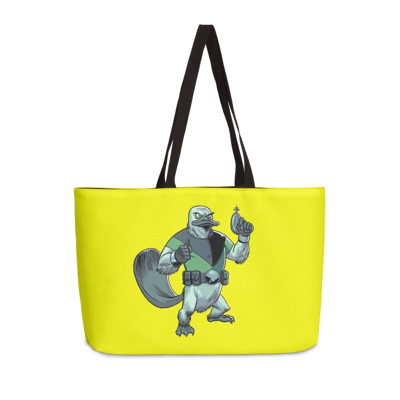 Shirt of the Month June 2017: Platypus Rex Accessories Weekender Bag Bag by Edison Rex
