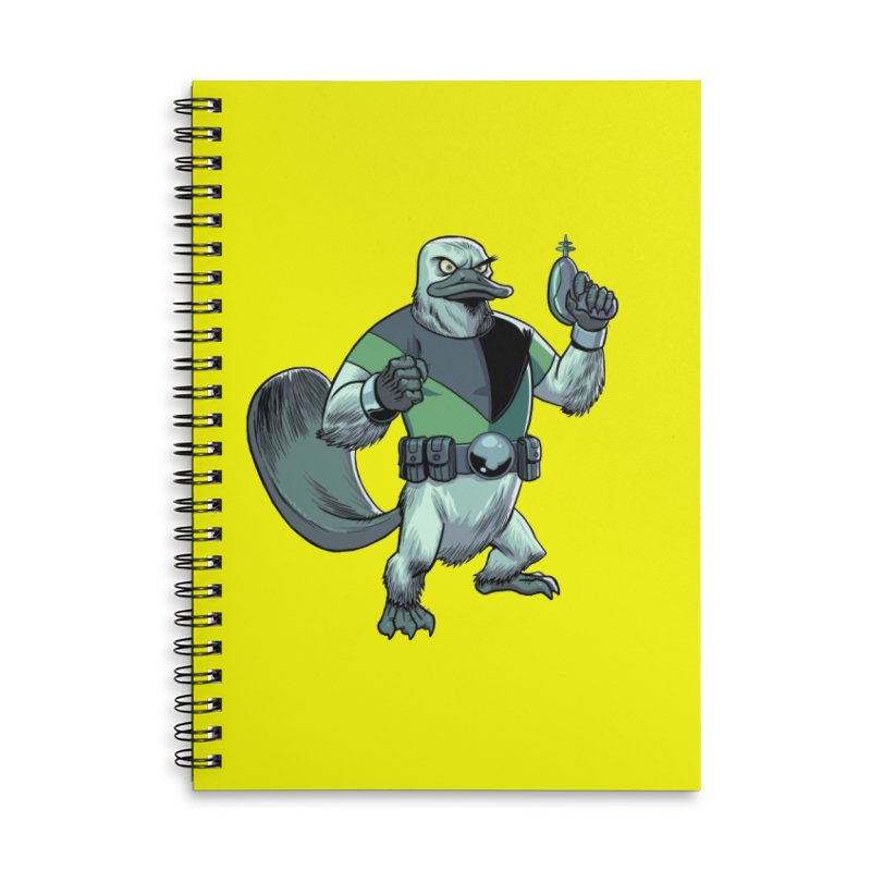 Shirt of the Month June 2017: Platypus Rex Accessories Lined Spiral Notebook by Edison Rex