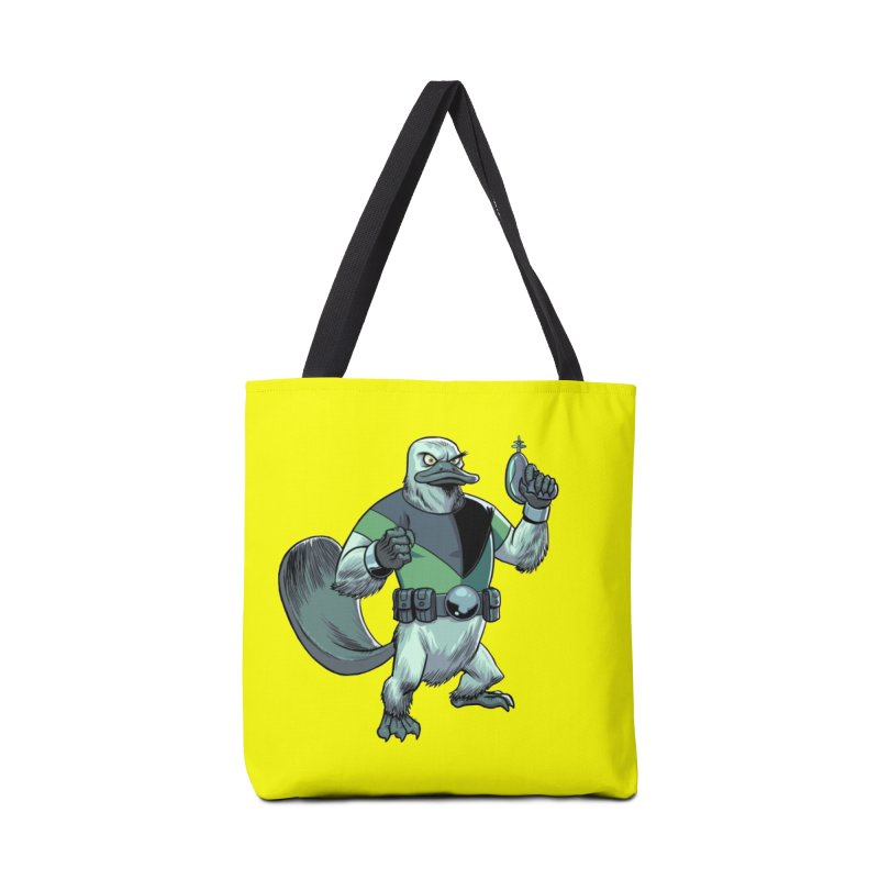 Shirt of the Month June 2017: Platypus Rex Accessories Tote Bag Bag by Edison Rex